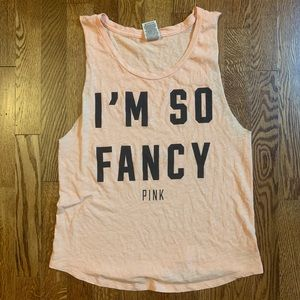 Victoria's Secret Pink 'I'm So Fancy' Cutoff Tank